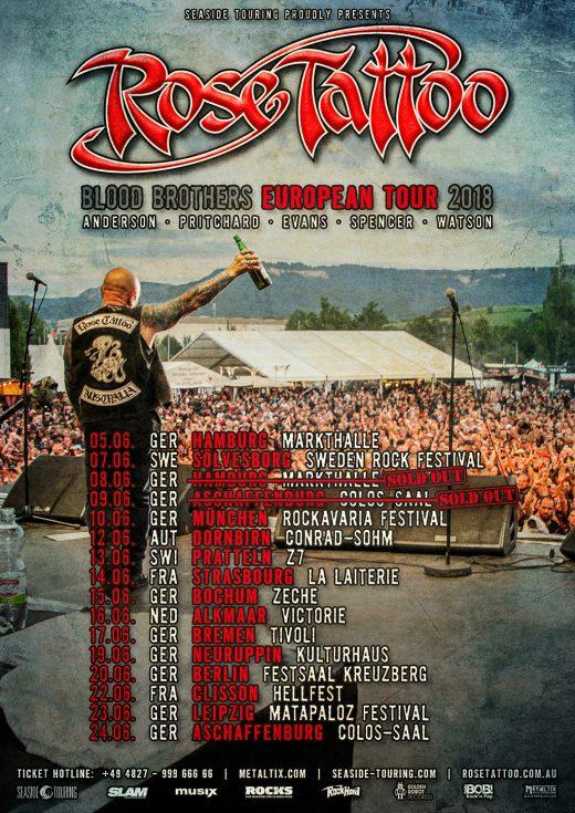 Rose Tattoo - Blood Brothers European Tour 2018: