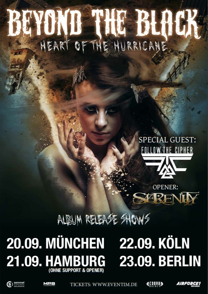 Beyond The Black - Heart Of The Hurricane Tour 2018