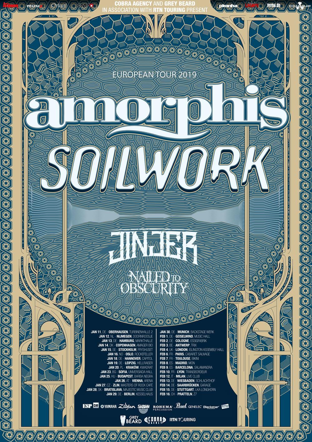 Amorphis/Soilwork Co-Headlinertour 2019