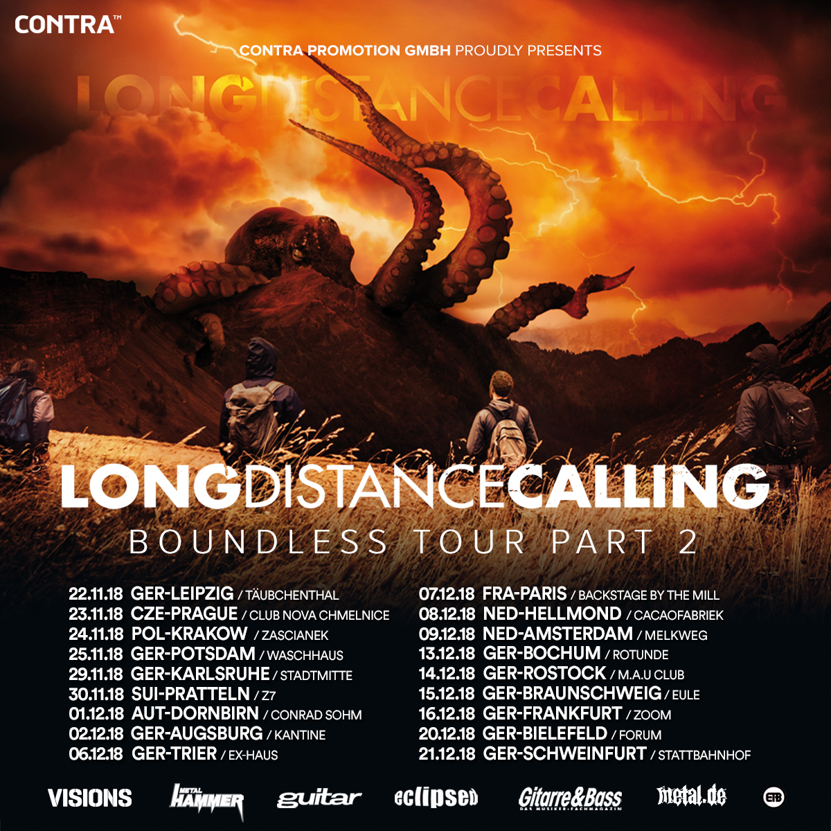 Tourposter Long Distance Calling - Boundless Tour Part 2