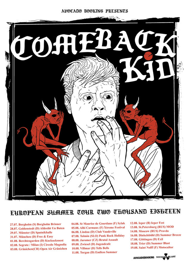 Comeback Kid - European Summer Tour 2018