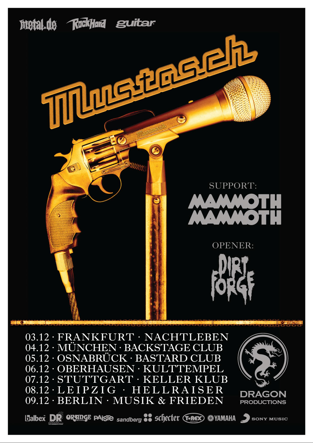 Tourposter Mustasch - Silent Killer Tour 2018