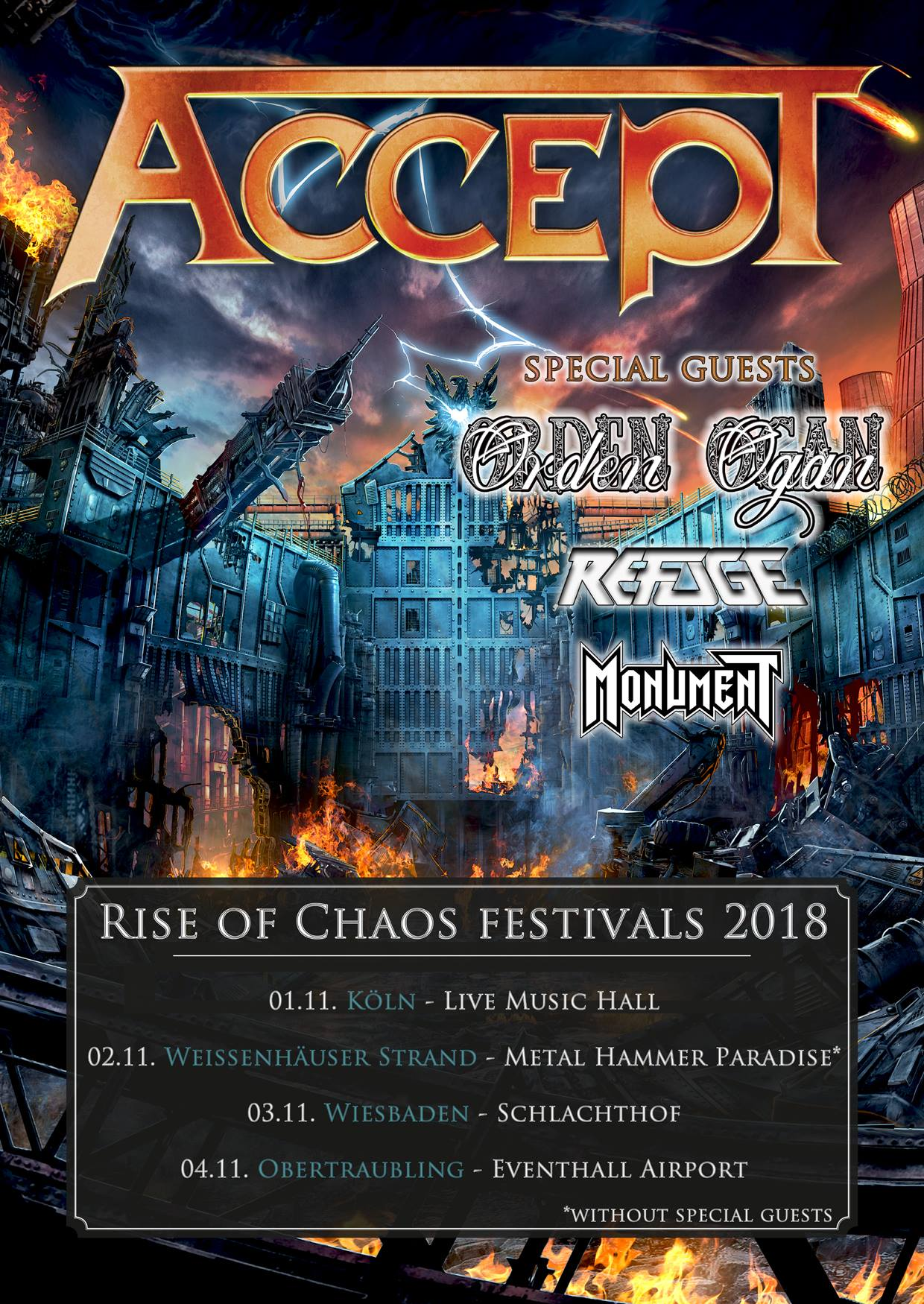 Accept - Rise of Chaos Festivals 2018