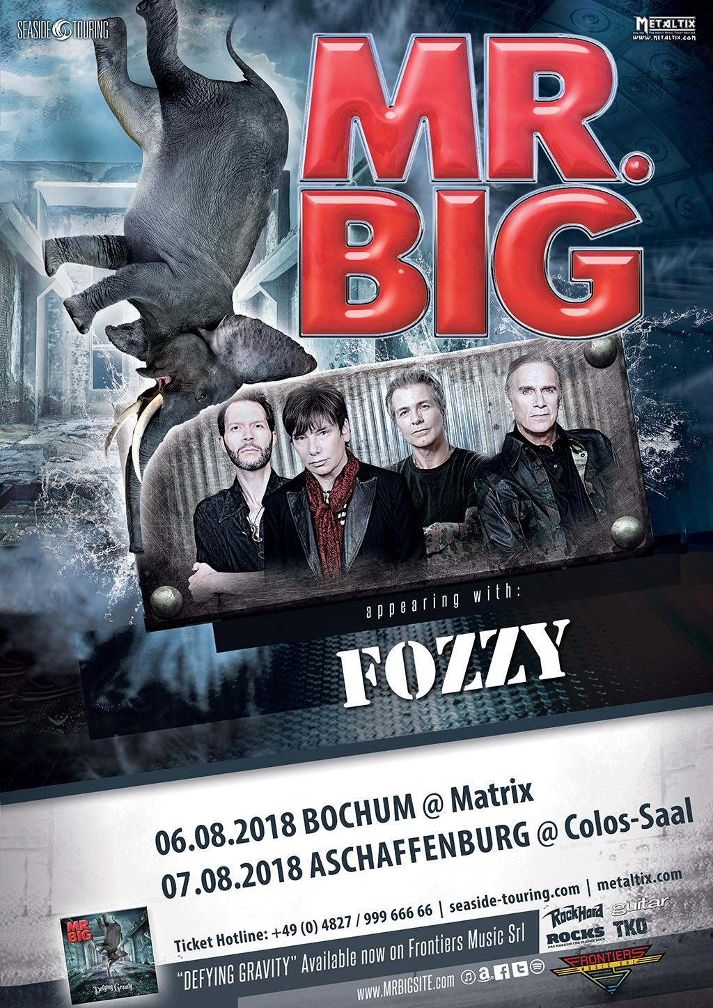 Bild: Mr. Big Tour 2018