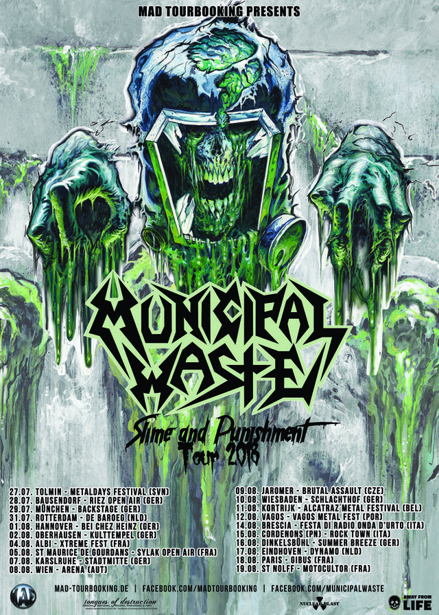 Municipal Waste - Slime and Punishment Tour 2018