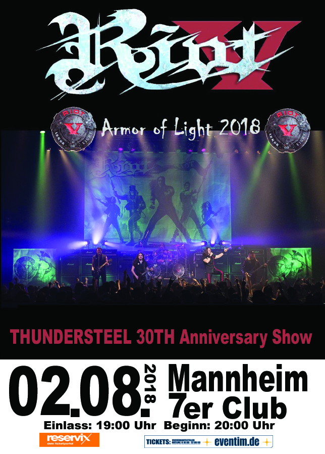 Flyer - Riot V - 30th Anniversary of Thundersteel