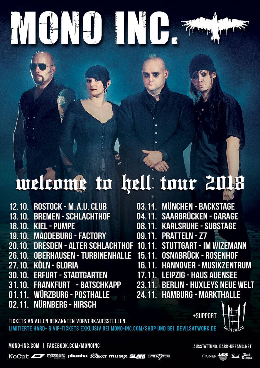 Mono Inc. - Welcome To Hell Tour 2018