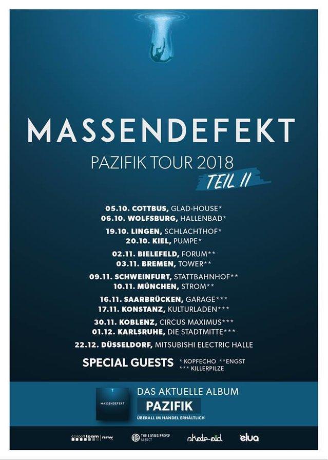 Massendefekt - Pazifik Tour 2018