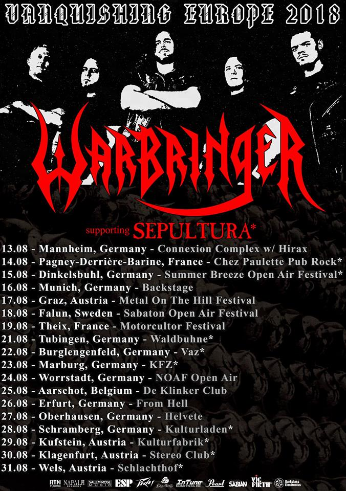 Bild: Warbringer Vanquishing Europe Tour 2018