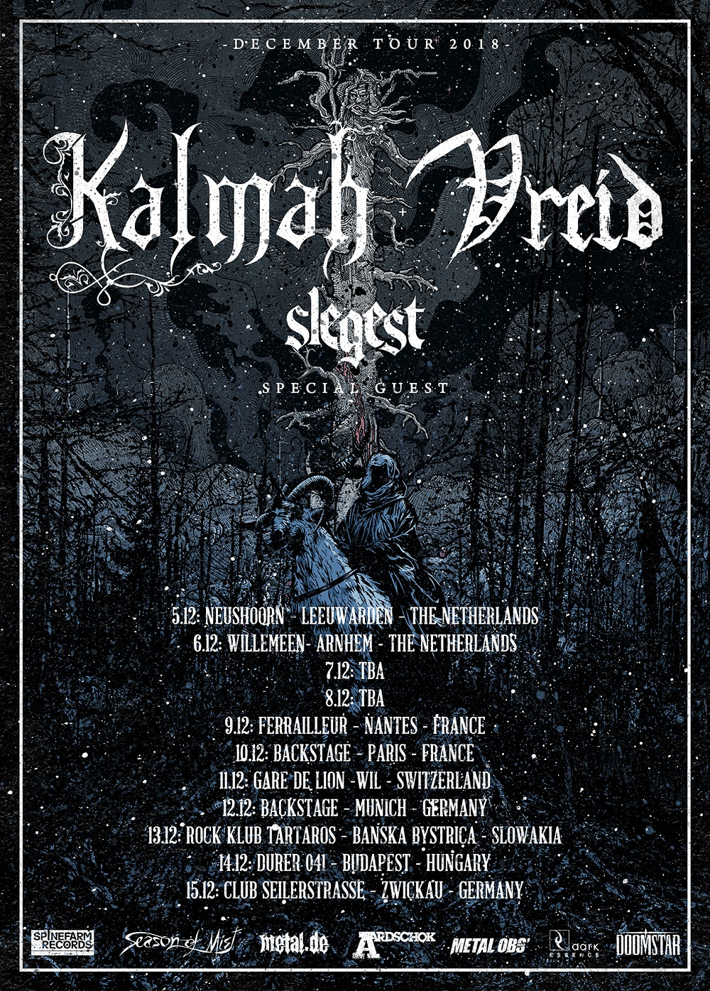 Bild Kalmah & Vreid- December Tour 2018 Poster