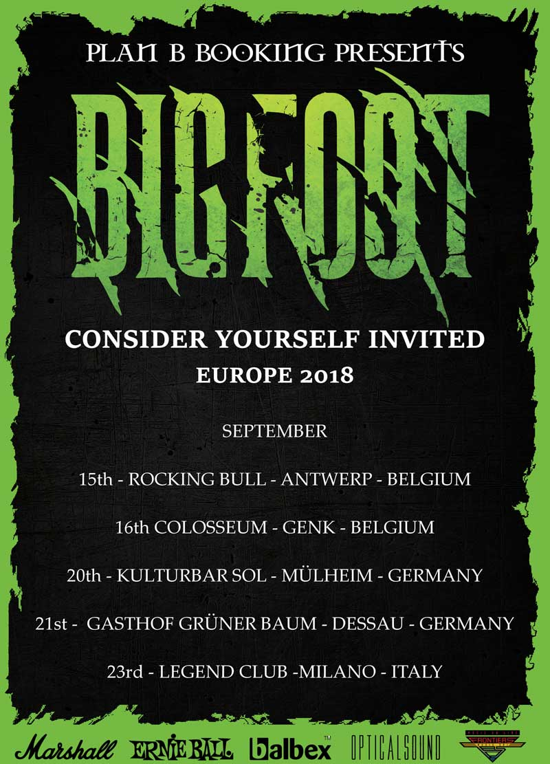 Bigfoot - Consider Yourself Invited Tour 2018