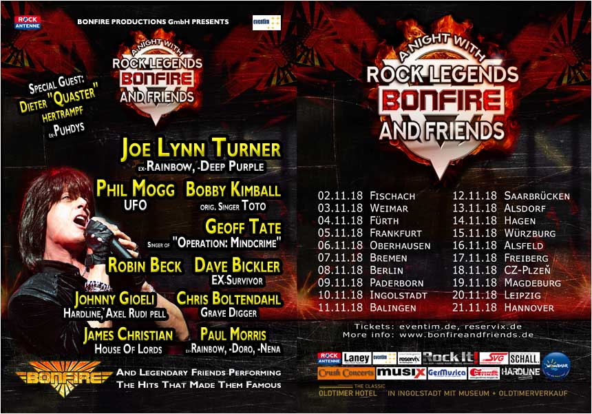 Bonfire & Friends - A Night with Rock Legends 2018