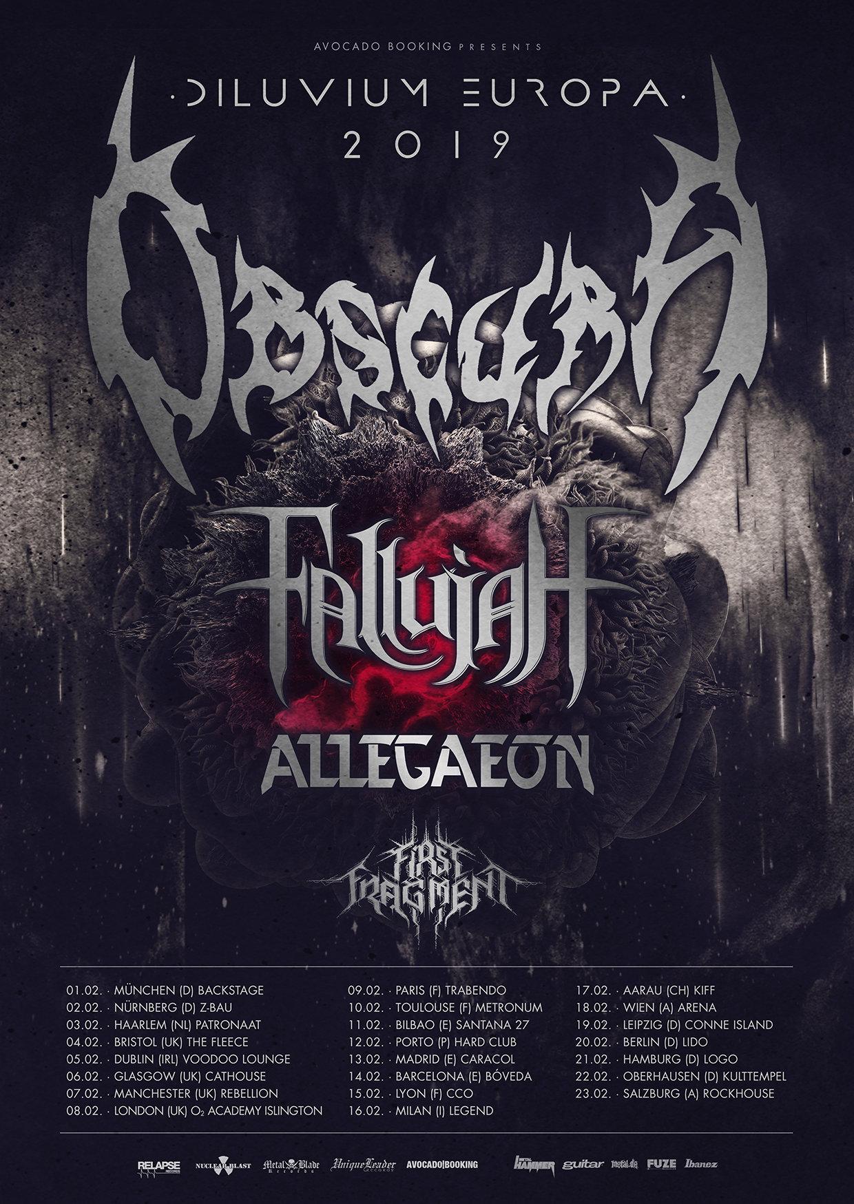 Obscura - Diluvium Europa Tour 2019