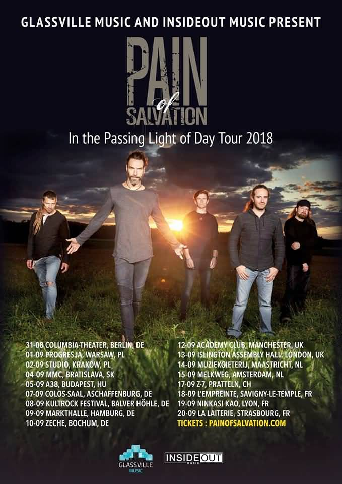 Pain Of Salvation - In The Passing Light Of Day Tour 2018
