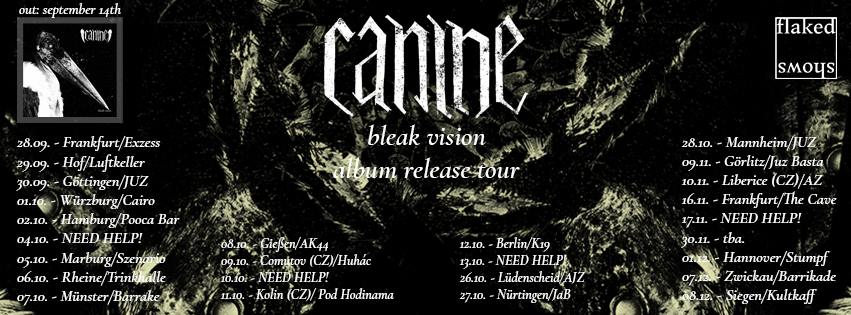 Canine - Bleak Vision Album Release Tour 2018