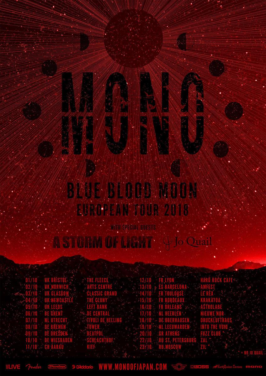 Mono - Blue Blood Moon European Tour 2018