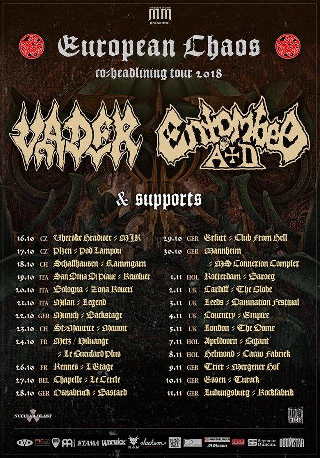 Vader & Entombed A.D. - European Chaos Tour 2018