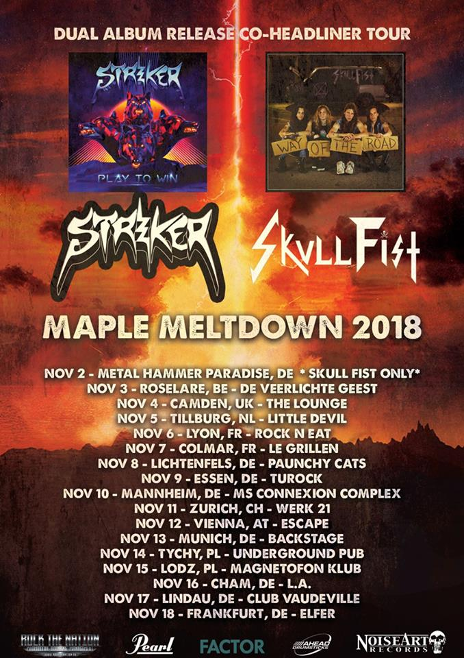 Bild: Striker/Skull Fist Maple Meltdown Tour 2018 Flyer