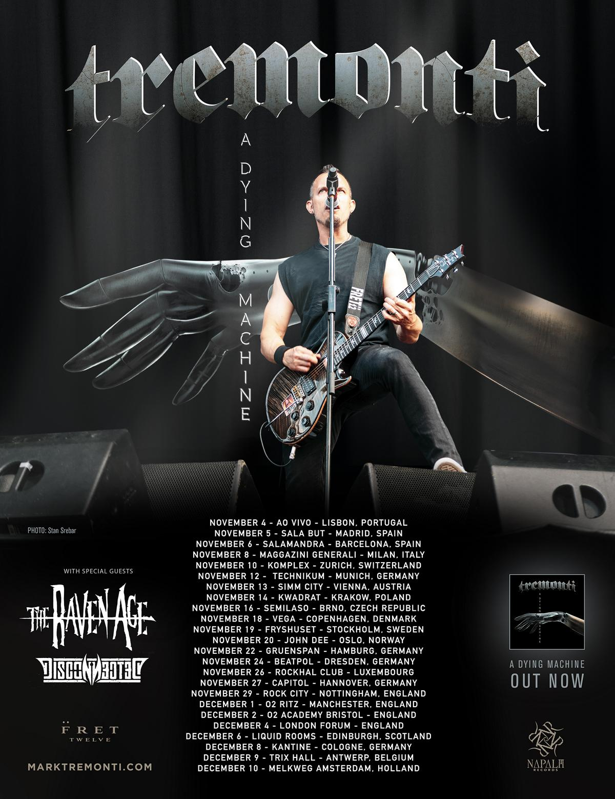 Tremonti - A Dying Machine Winter Tour 2018