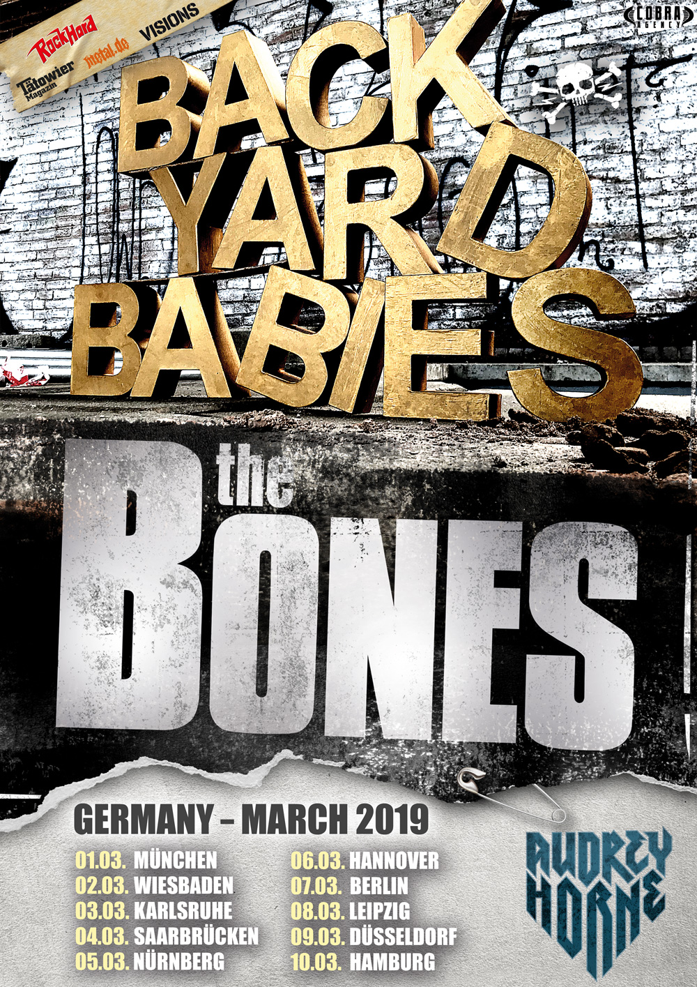 Backyard Babies Tourposter 2019