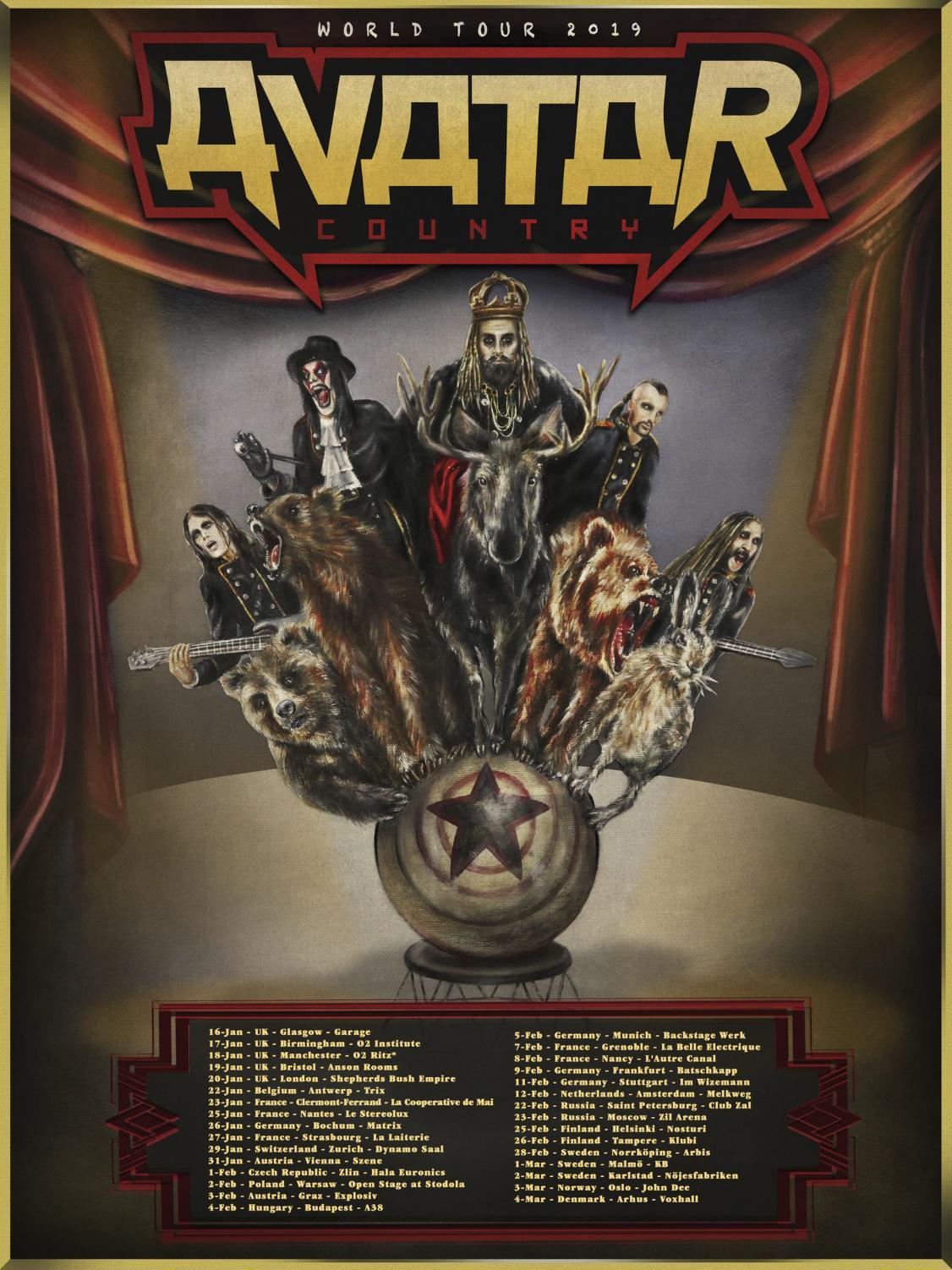 Avatar - Europe Headline Tour 2019