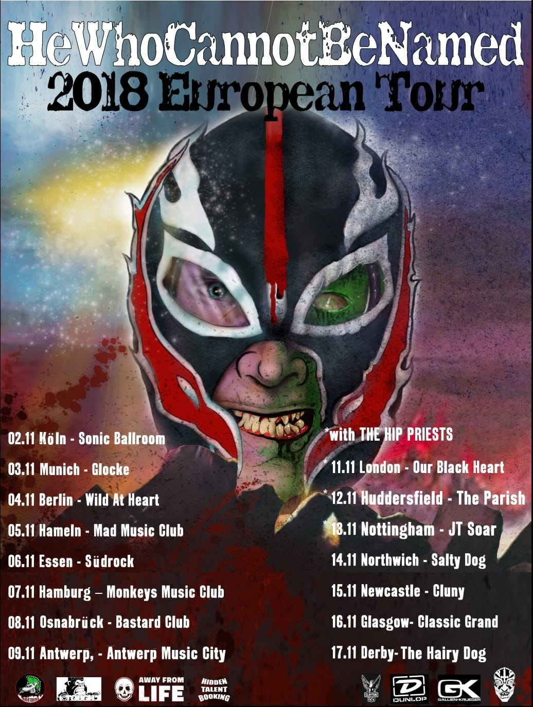 He Who Cannot Be Named -Tour 2018