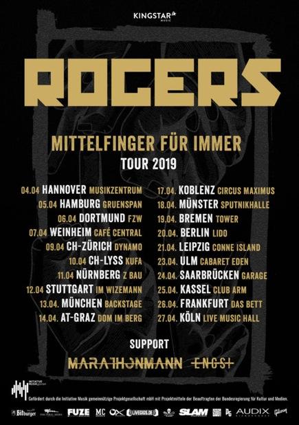 Rogers - Mittelfinger für immer Tour 2019