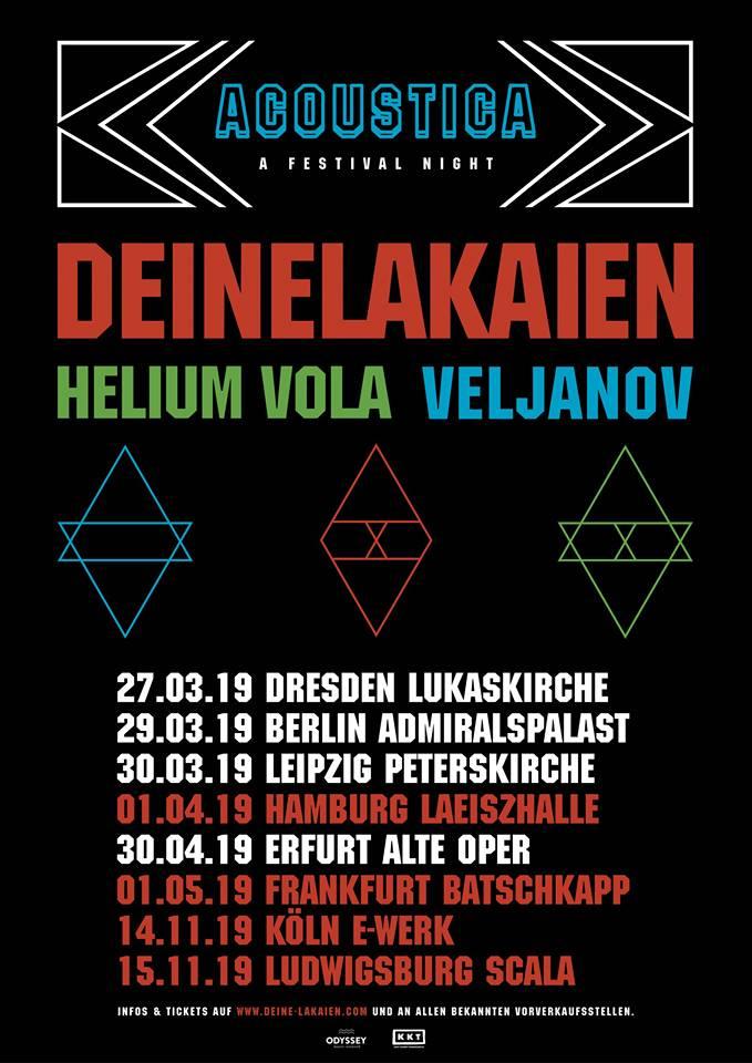 """Deine Lakaien - """"Acoustica"""" Festival Tour 2019"""