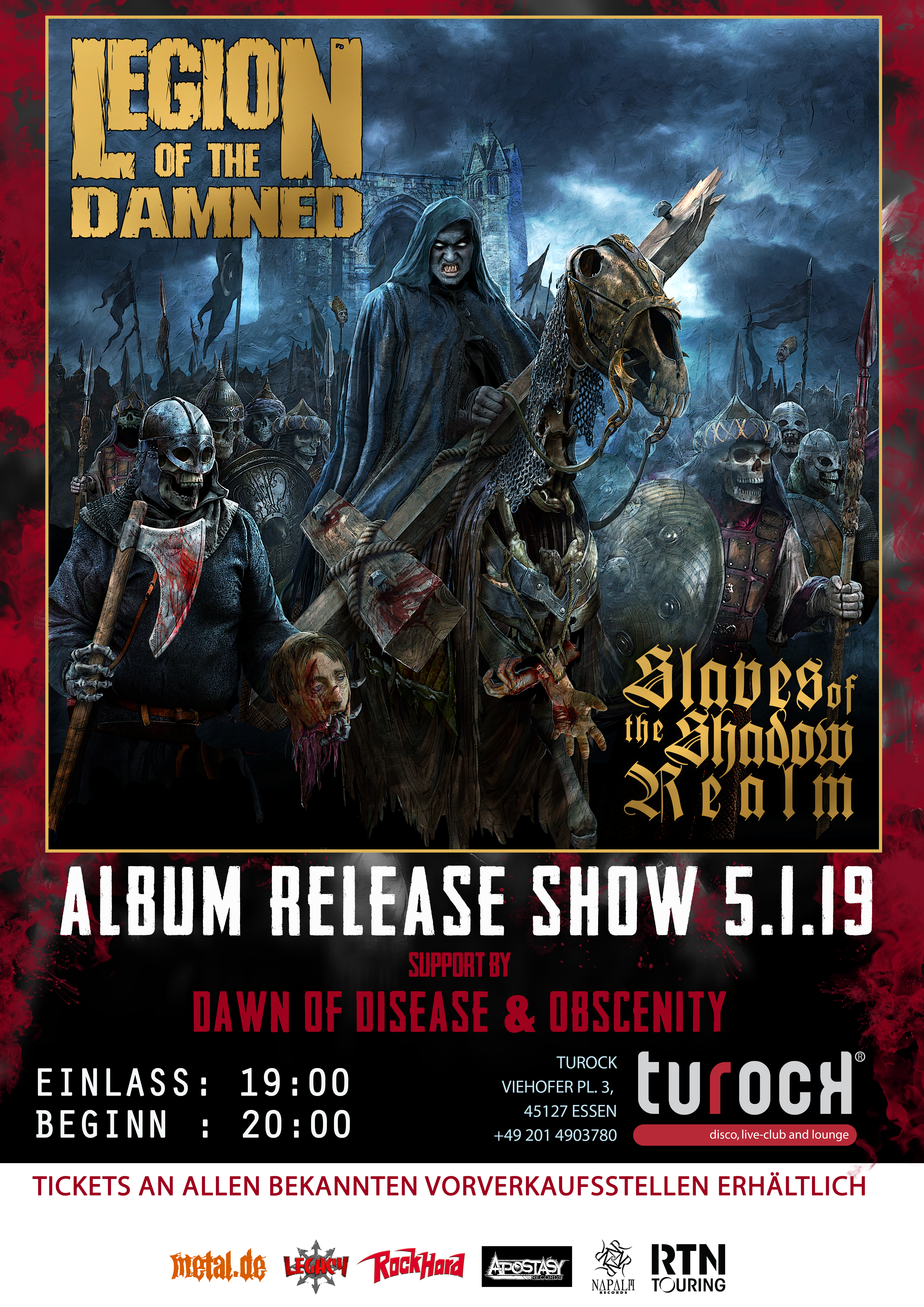 "Legion of the Damned - ""Slaves Of The Shadow Realm"" Record Release Show"