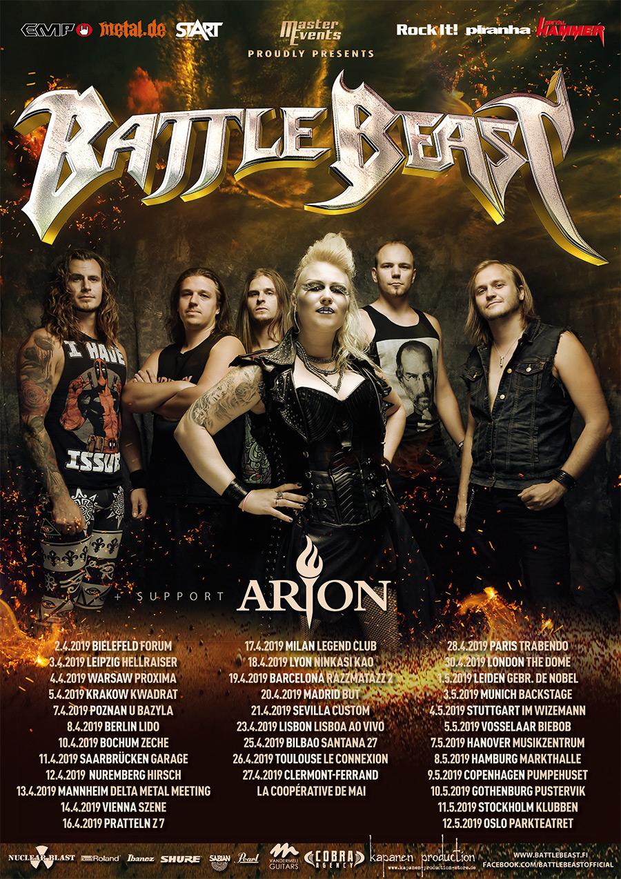 Battle Beast Tour 2019