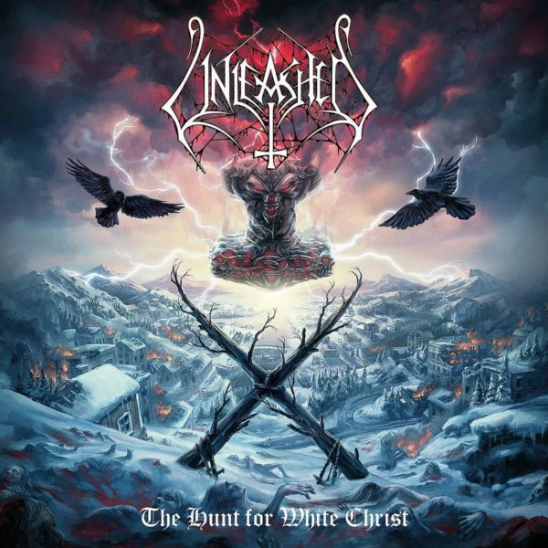 """UNLEASHED Cover Artwork zu """"The Hunt For White Christ"""""""