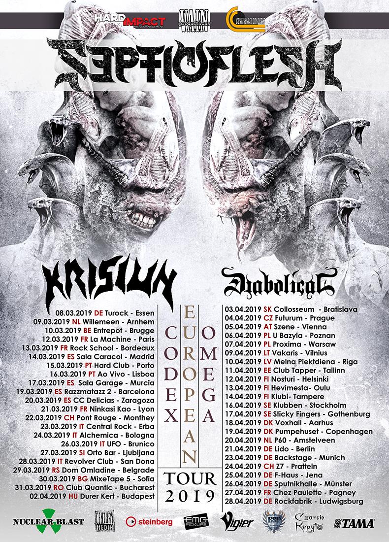 "Septicflesh - ""Codex Omega"" European Tour 2019"