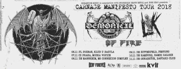 Demonical - Carnage Manifesto Tour 2018
