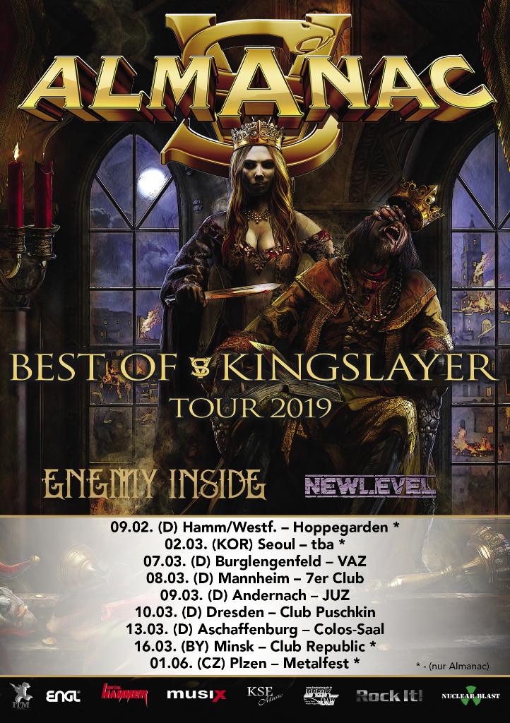 Almanac - Best of Kingslayer Tour 2019