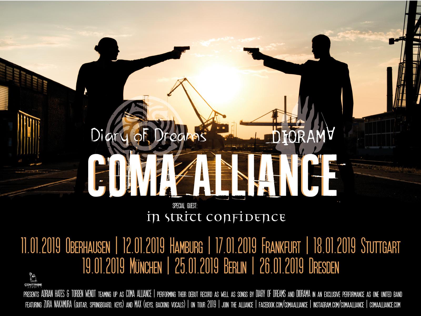 Coma Alliance kommen auf Tour 2019