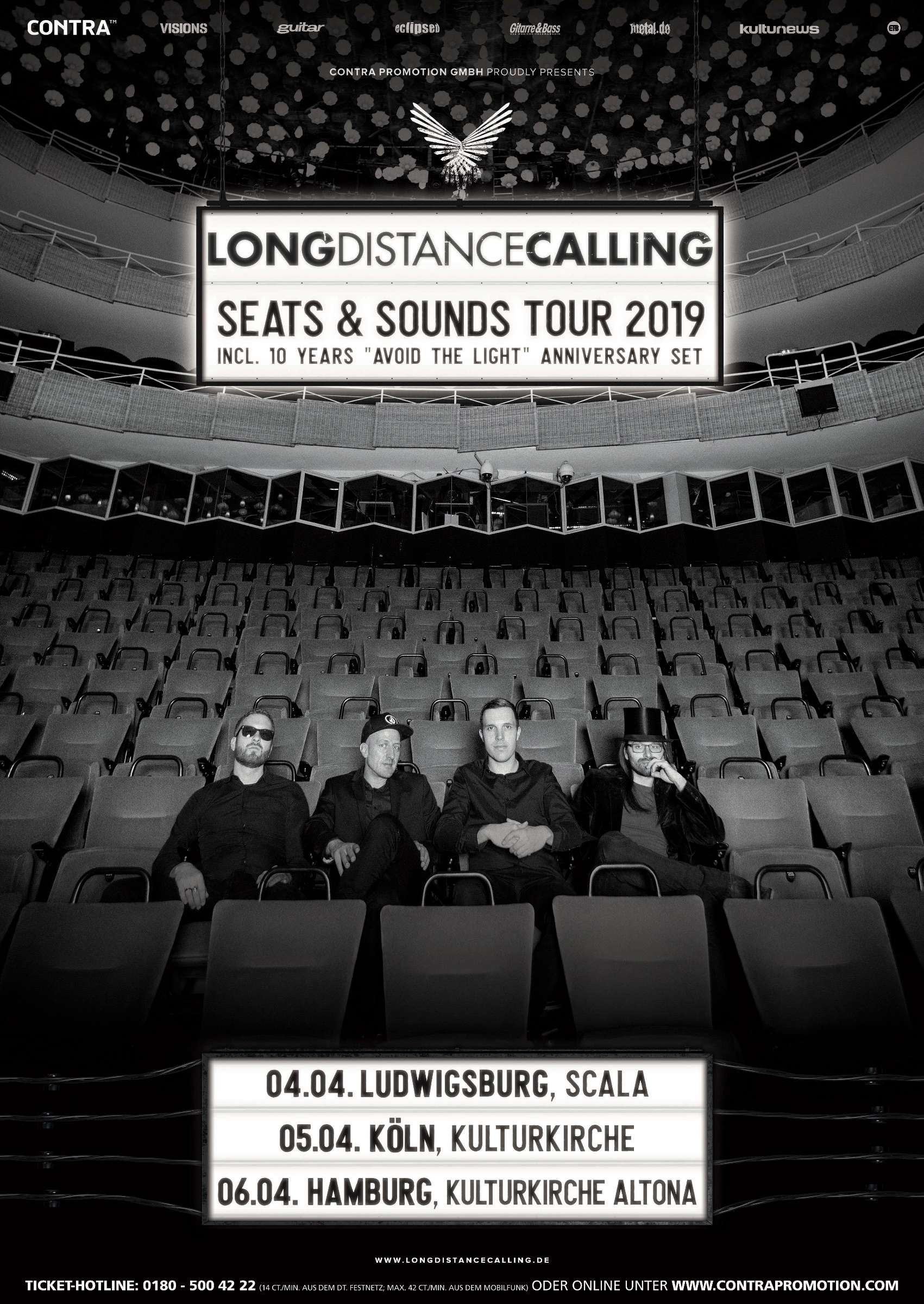 Long Distance Calling Seats and Sounds Tour 2019