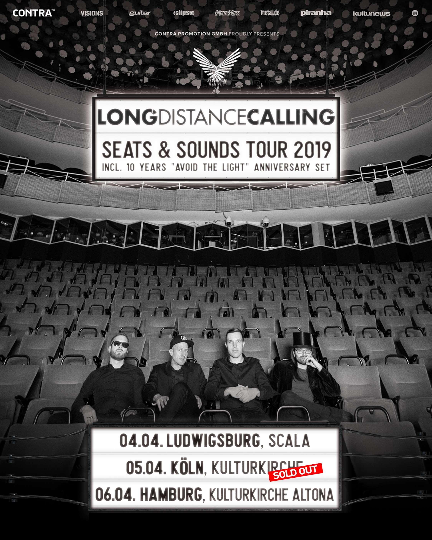 Tourplakat Long Distance Calling - Seats and Sounds Soldout