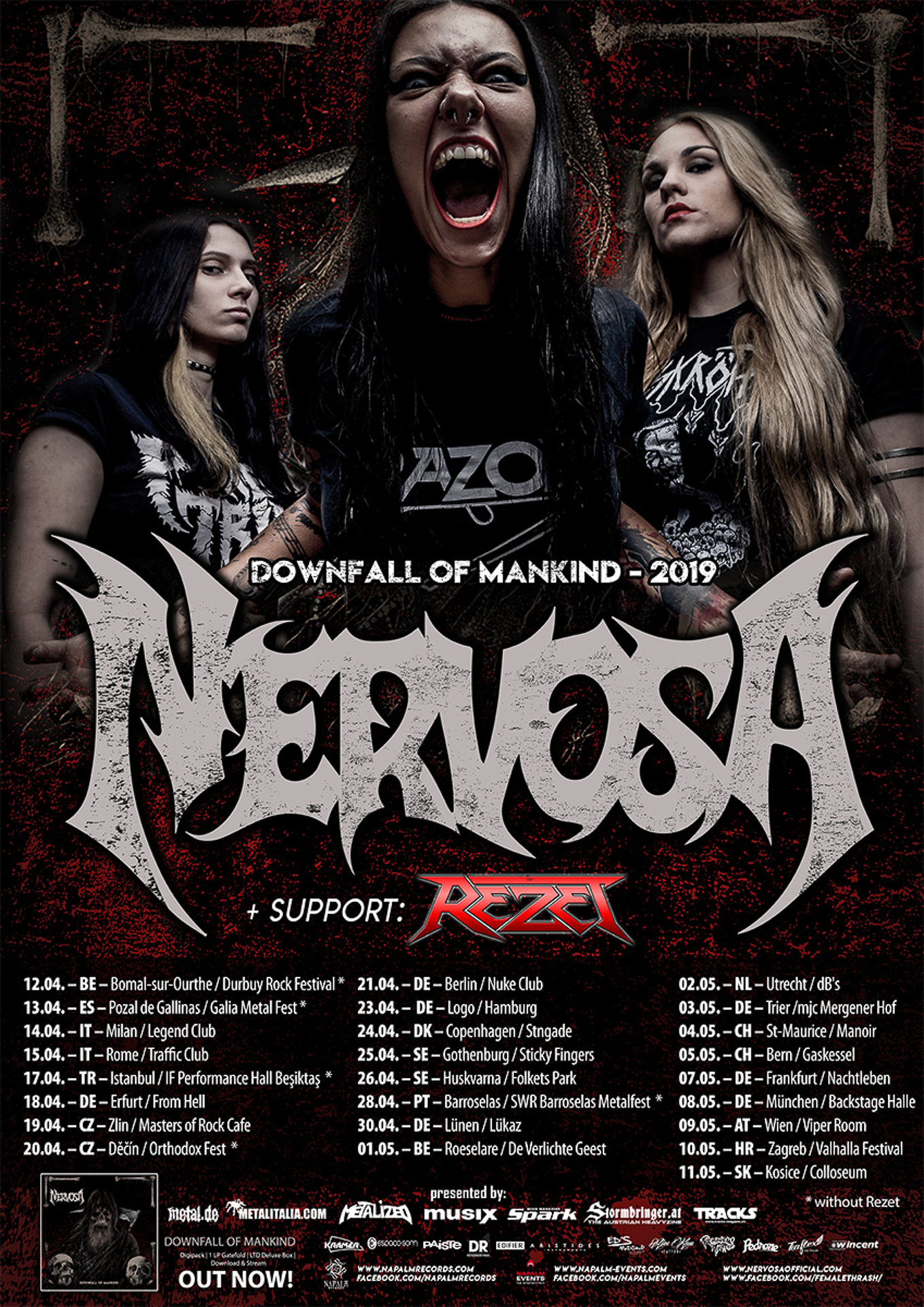 Nervosa Downfall Of Mankind-Tour2019