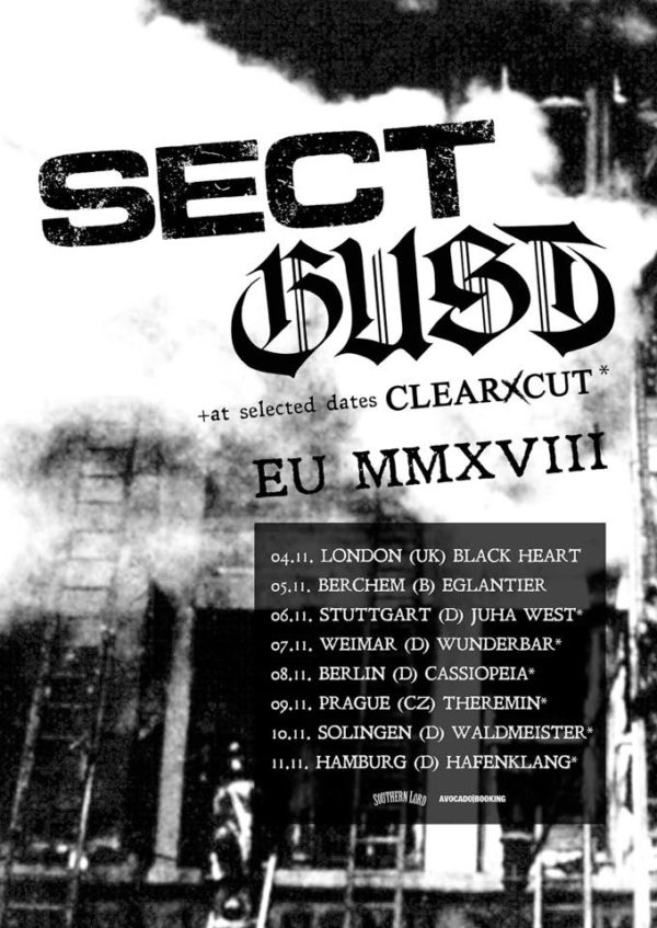Sect, Gust, clearXcut - Tourposter 2018