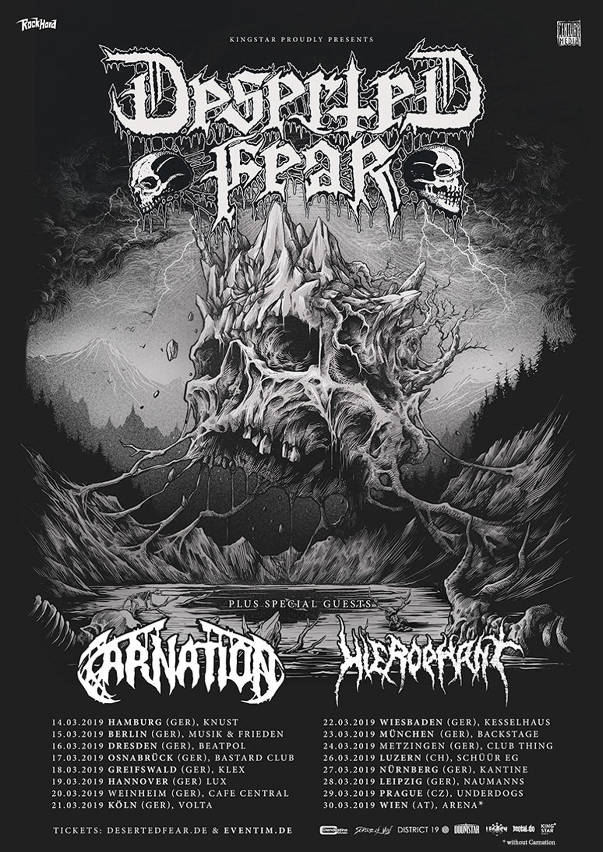 Deserted Fear - Tourplakat