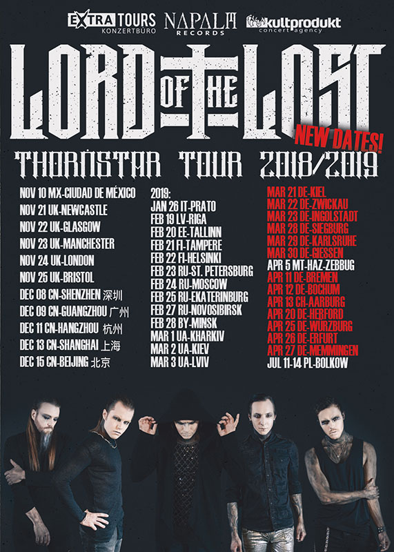 "Lord Of The Lost – ""Thornstar""-Tour 2019"
