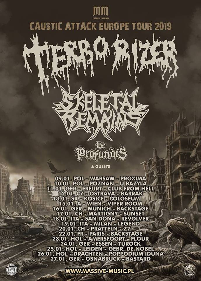 Terrorizer - Caustic Attack Europe Tour 2019