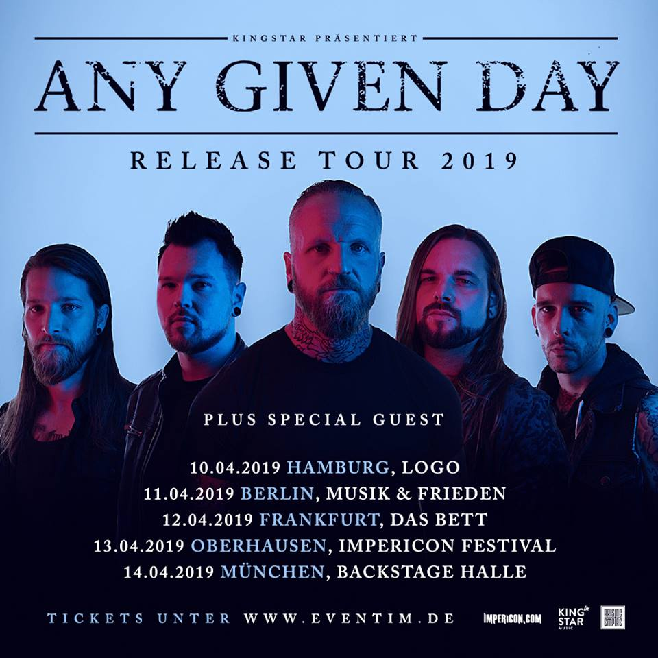 Any Given Day - Release Tour 2019