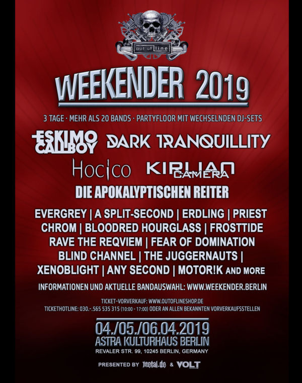 Out Of Line Weekender 2019 - Flyer