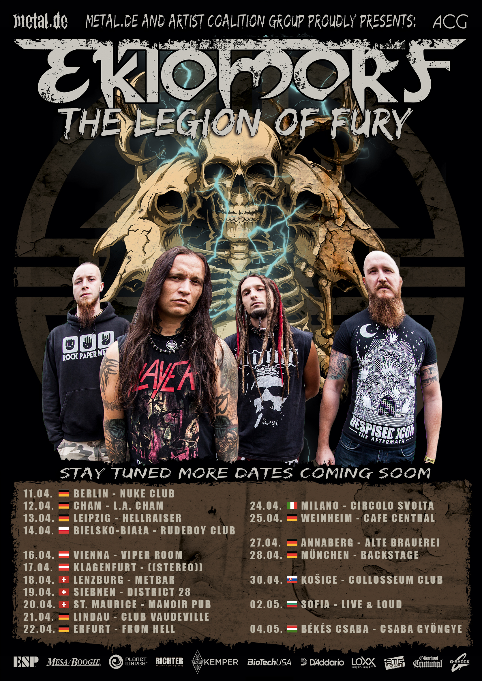 Ektomorf The Legion Of Fury Tour 2019