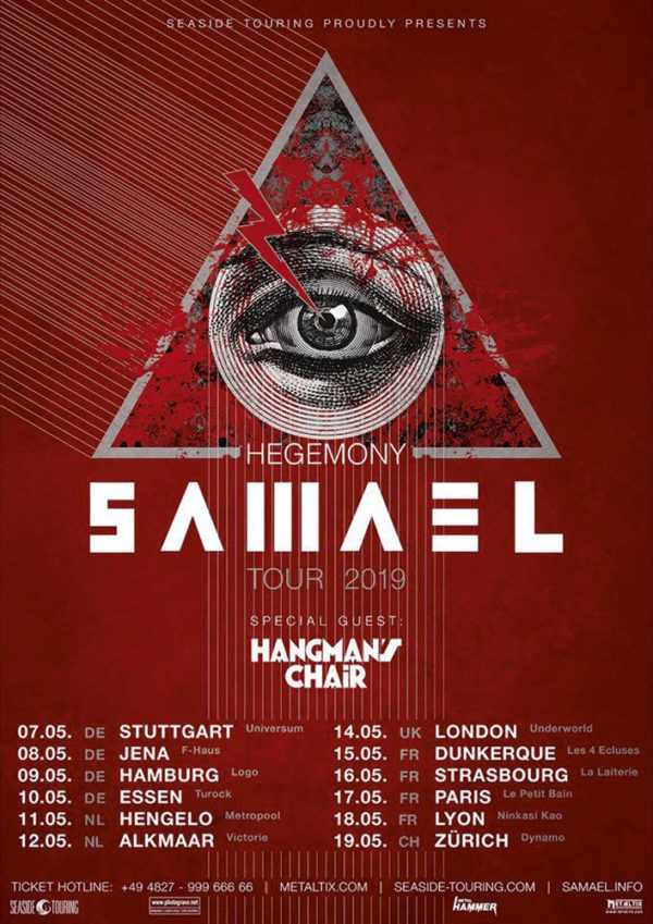 Samael - Hegemony European Tour 2019