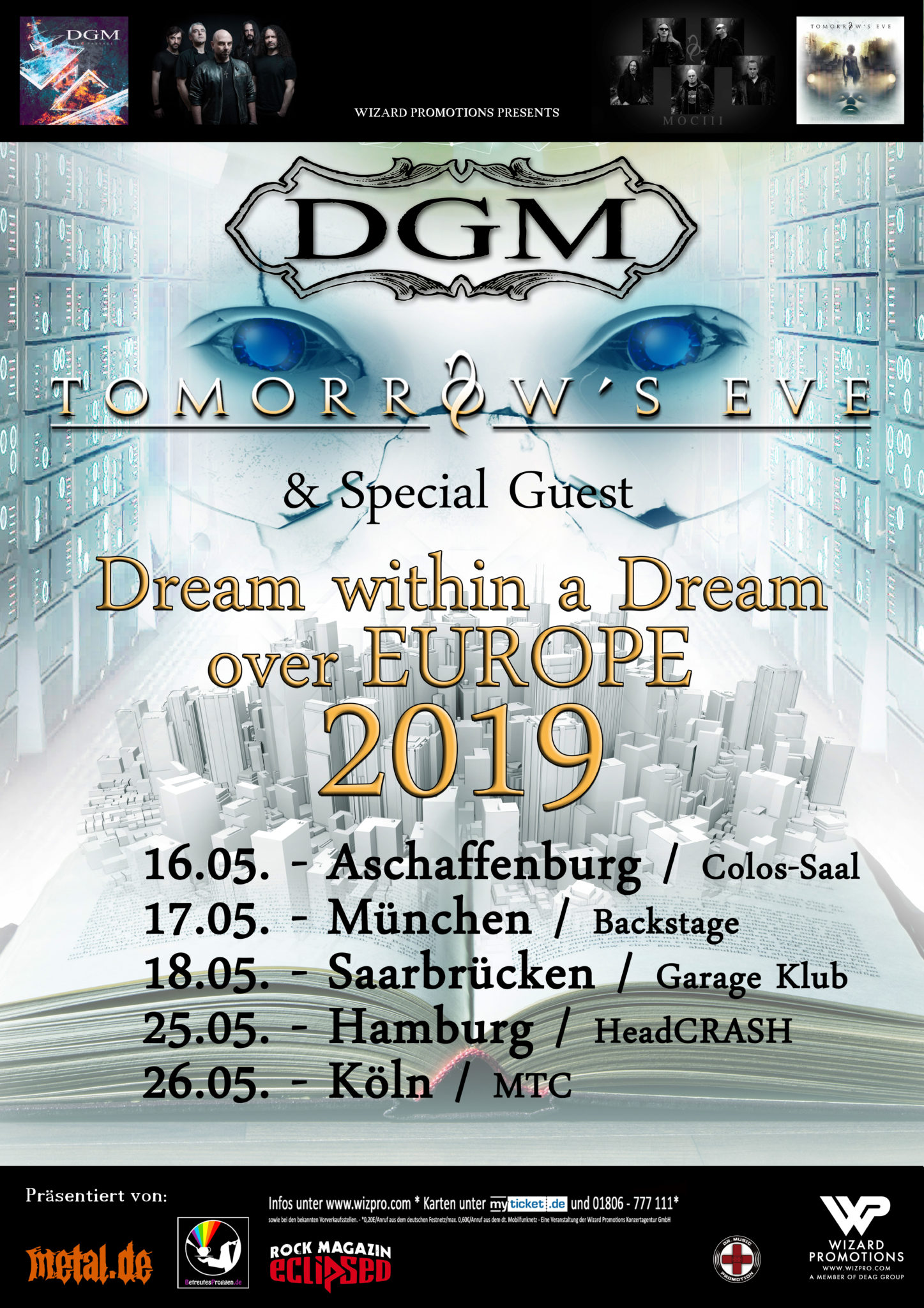 DGM & Tomorrows Eve Dream Within A Dream Tour 2019