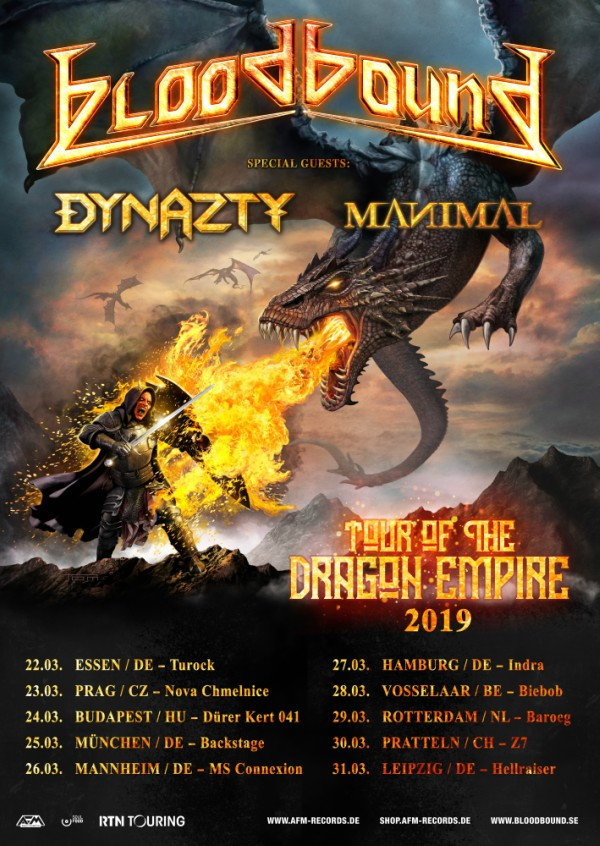 Bloodbound - Tour of the Dragon Empire 2019
