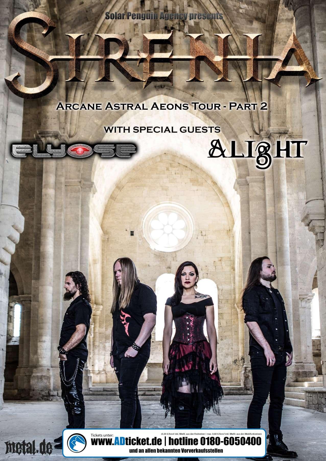Sirenia - Arcane Astral Aeons Tour 2019