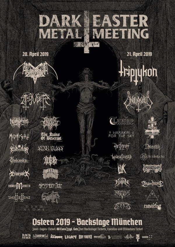 Dark Easter Metal Meeting 2019 Plakat